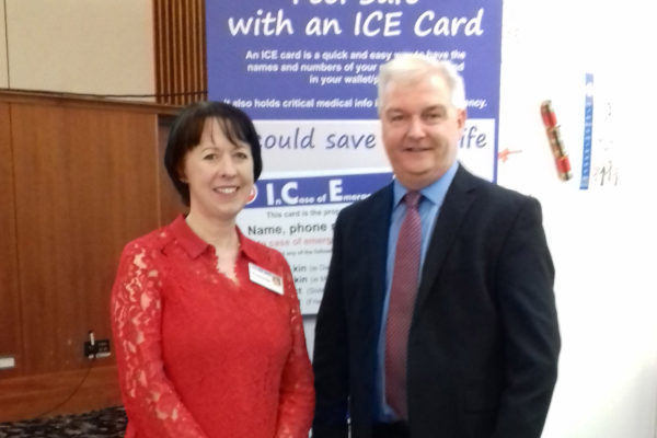 Connie Danaher and Kieran O'Leary CEO Diabetes Ireland