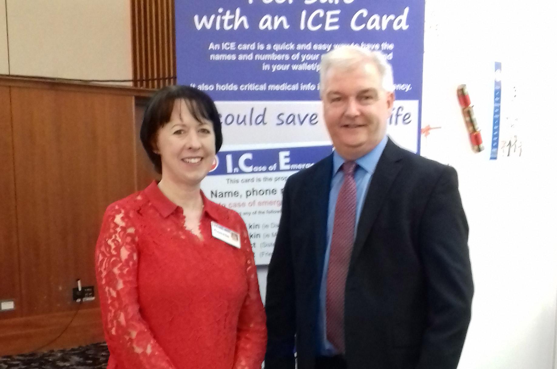 Connie Danaher and Kieran O'Leary CEO Diabetes Ireland
