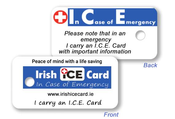 Ice Card Keyfob