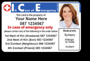 ICE Card - ID card in an emergency