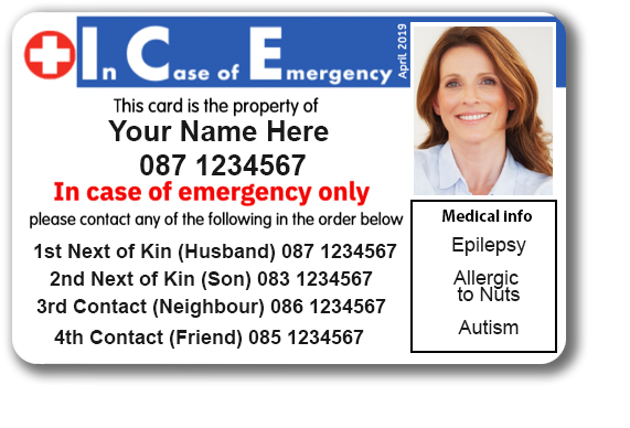 ICE Card - ID card in an emergency