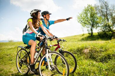 Cyclists - out in the county -